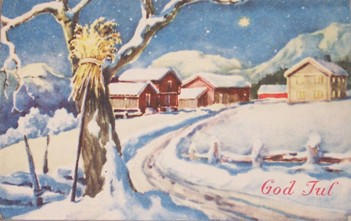 Christmas card from Sten Konow